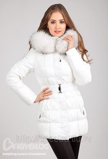 Пуховик женский белый Cattail Willow SN-1155 цена 3500+.