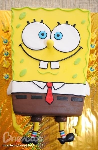 торт-фото губка боб