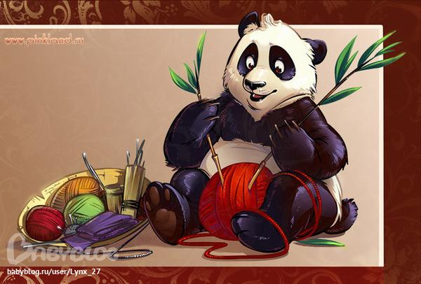 шапка детская панда крючком