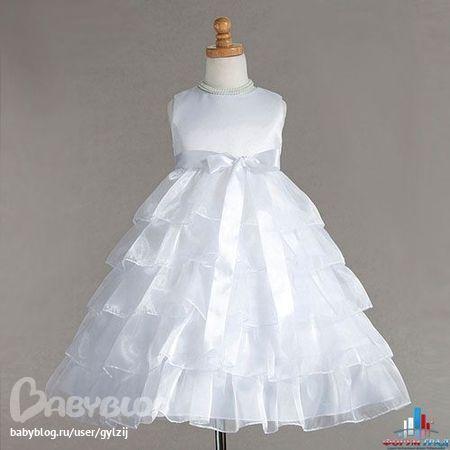 Комментарий: связать нарядное платье для девочки схема.