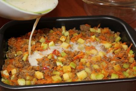 запеканка с фаршем и овощами в духовке рецепт с фото