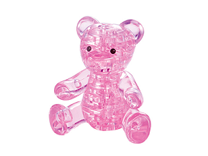 14. Мишка розовый.  Размер готовой фигуры 9 см.