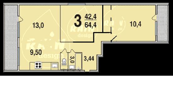 Как сделать смежные комнаты раздельными в двухкомнатной
