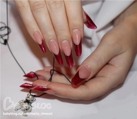 Ногти пайп френч