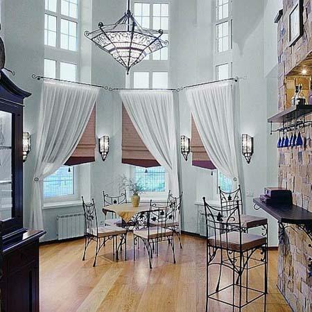 Фото штор в коттедж, идеи для загородного дома.