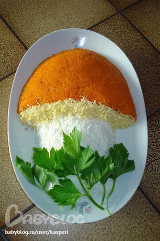 Как сделать салат в виде круга