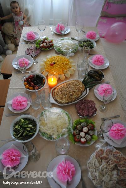 Украшения своими руками на стол в день рождения