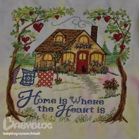 Приметы в вышивке крестом дом