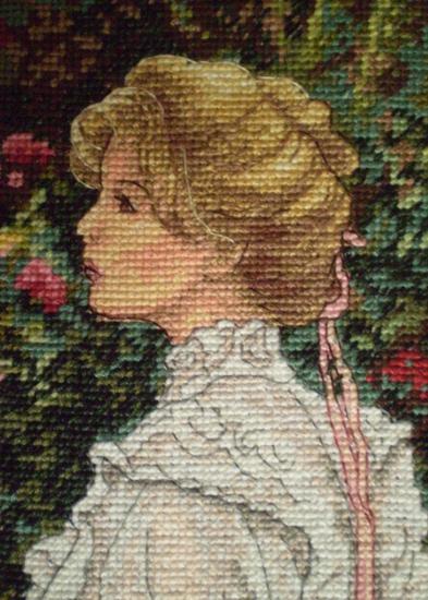 Вышивка в ее саду процесс