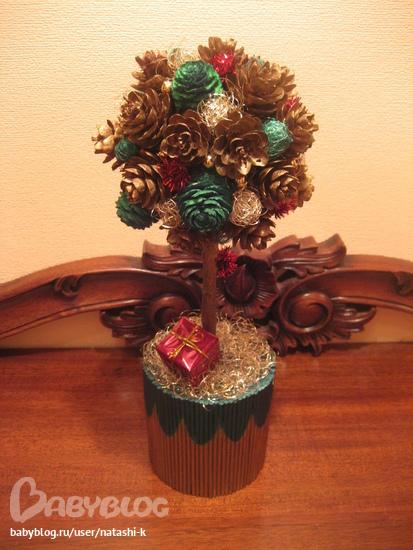 Дерево счастья новогоднее своими руками мастер класс пошагово фото 98