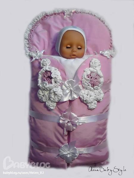 Конверт на весну для новорожденного своими руками