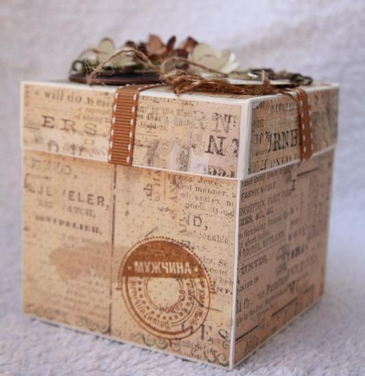 Коробка заначка для мужчины своими руками