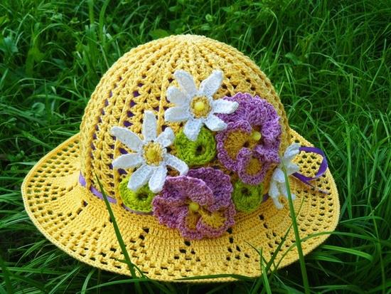 Летняя шляпка для девочки,