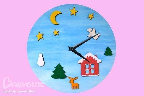 Часы своими руками в сад