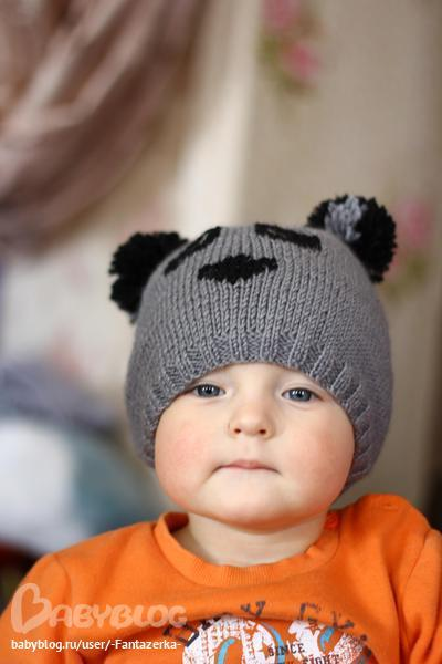 Шапка-панда для сынишки