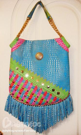Женские сумки ручной работы.  С бахромой - продано.  Fantazia.