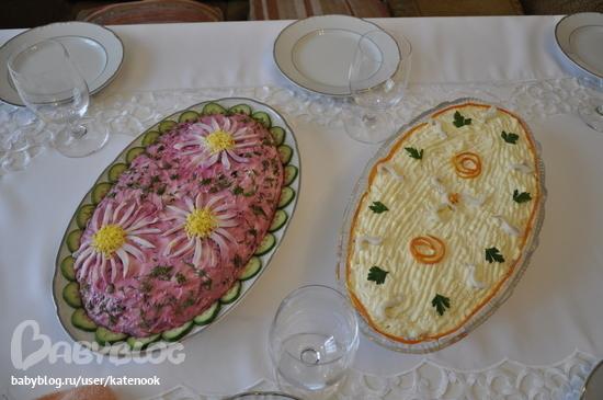 Салаты закусочные на праздничный стол