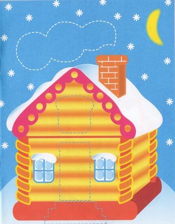 Раскраски с детьми распечатать новый год