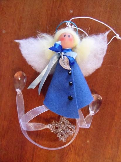 Ангел из ткани своими руками на елку