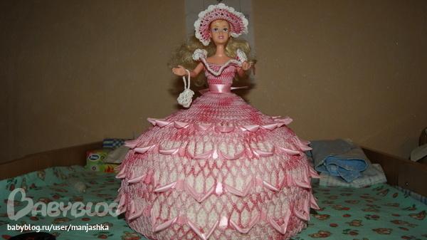Платье для куклы из атласной ленты своими руками 57