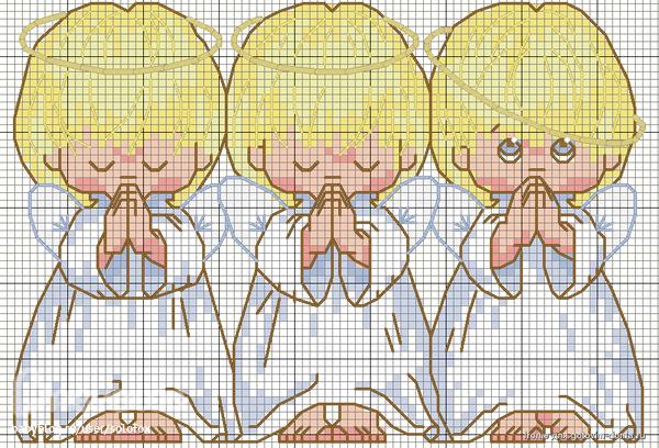 Ангелочки почти идеальный схема вышивки