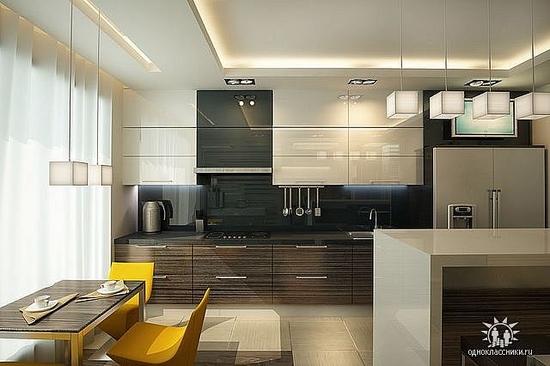 Дизайн кухни стильной