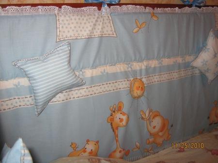 Бортики в кроватку своими руками из синтепона