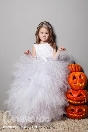 Как детское платье сделать пышными 383