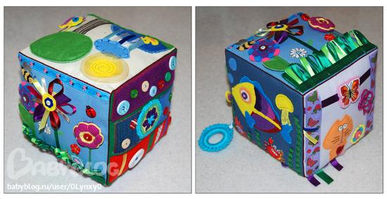Мягкие кубики для малышей своими руками