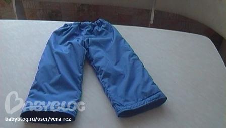 Как сшить детские штаны на резинке из плащевки 23