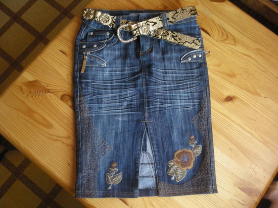 юбка из старых джинс - Джинсы.