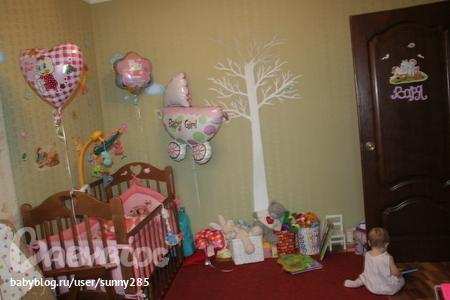 Это детская комната в шариках в виде