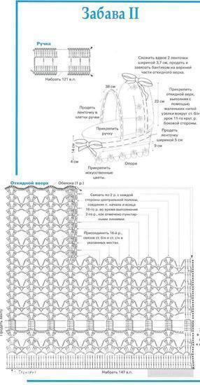 Как связать крючком коляску