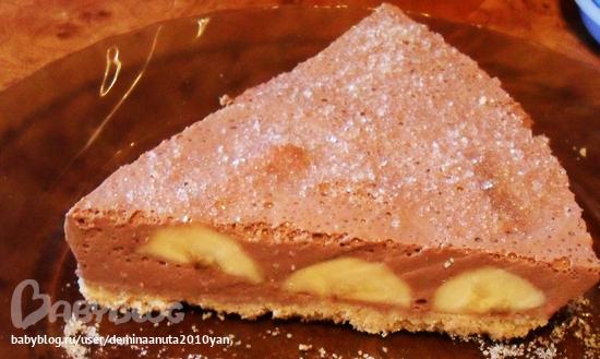 торт без выпечки рецепт банановый