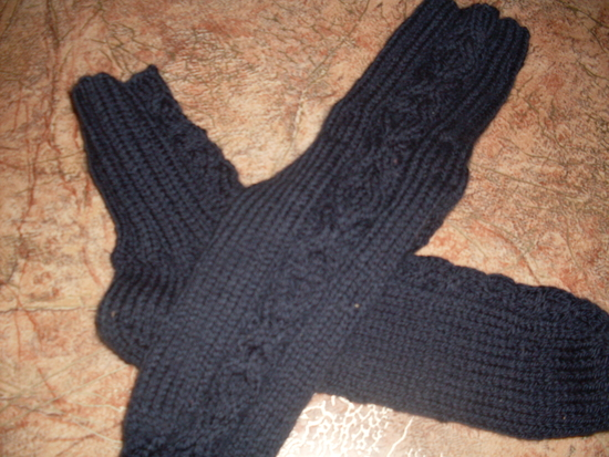 Как связать мужу носки