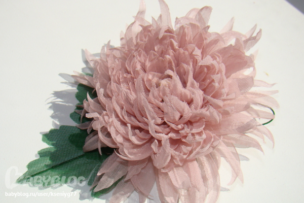 Астра цветок из ткани своими руками 29