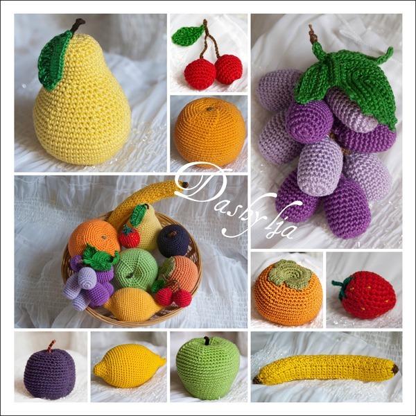Вязание крючком яблочки 84
