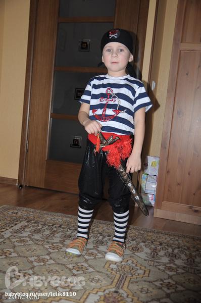 Костюм пирата для девочки из подручных материалов своими руками 76