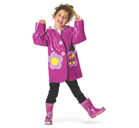 Фотографии Очень очаровательная куртка (плащ) - дождевик для девочки...