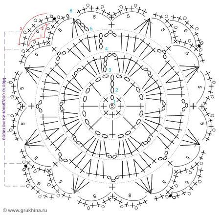 Схемы вязания крючком элементы 64