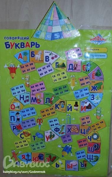 Говорящий плакат знаток учимся читать