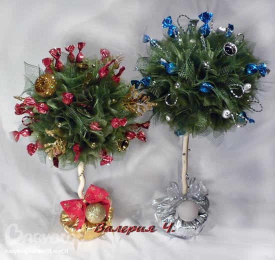 Новогодний букет вместо елки
