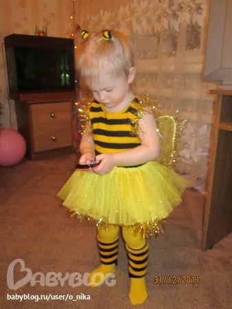 Новогодние костюм пчелки своими руками