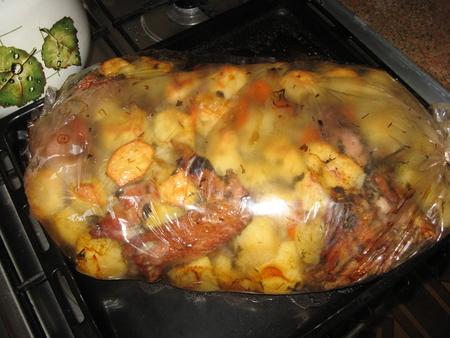 домашняя курица в духовке рецепт с фото с картошкой