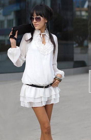 Белая Блузка С Черным Кружевом В Екатеринбурге