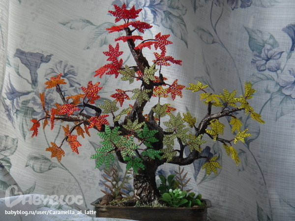 """Дерево из бисера """"Сакура АИ"""""""