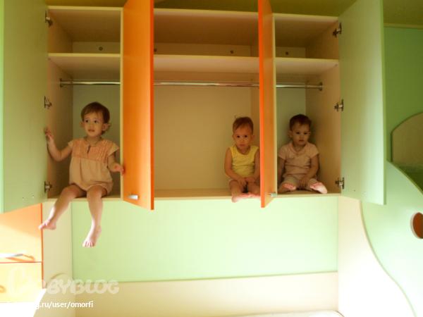 детская комната для тройняшек