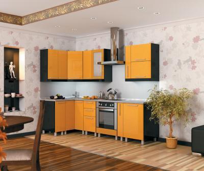 Анна F-25 желтый.  Состав композиции Кухня Анна (желтая).  250х720.