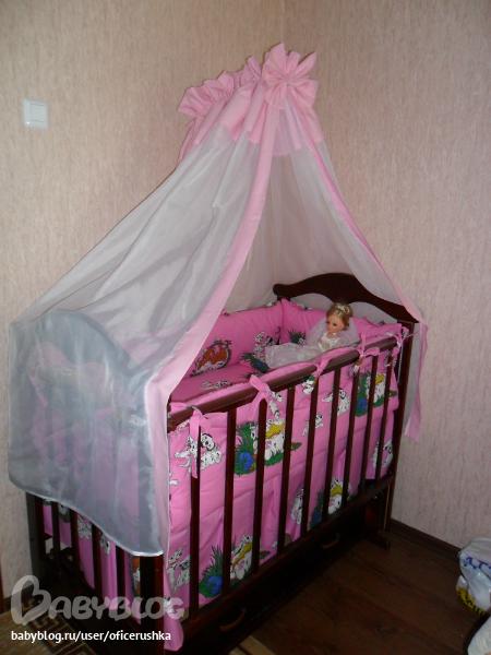 Балдахин в кроватку для кукол своими руками