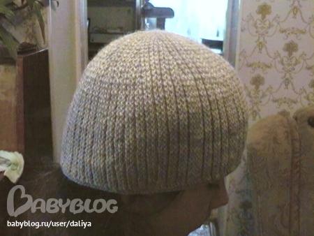 мужская шапка крючком.
